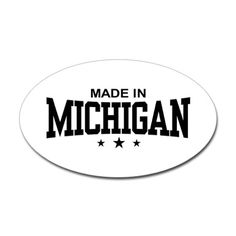 Made in Michigan    -   Oval Sticker