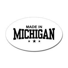 Made in Michigan    -   Oval Sticker