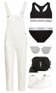 """Untitled #11182"" by minimalmanhattan on Polyvore featuring M.i.h Jeans, Vans, Yves Saint Laurent, Calvin Klein Underwear and GANT"