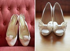 Em for Marvelous - classic white wedding shoes