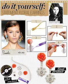 DIY Prada Earrings DIY Jewelry DIY Earrings
