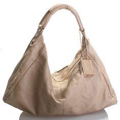 Beige soft leather bag - Melinda, was $320 now $139.95