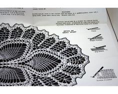 Vintage Crochet Pattern doily Pineapple Motif by SmilingCatVintage