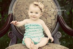 Not only is this little girl so adorable in general, but I love vintage style baby photo shoots