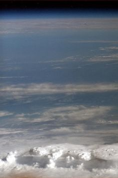 Thunderstorms.  Photo taken by crew aboard the International Space Station.  Chris Hadfield, Twitter