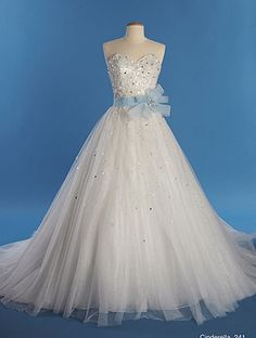 Alfred Angelo New Cinderella Style 241. absolutely gorgeous. Toulle comes in regular or glitter.