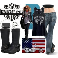 """Harley Davidson"" by junethompson on Polyvore"