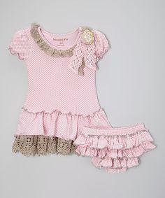 Look at this #zulilyfind! Sweet Pink Baby Cozette Tee & Diaper Cover - Infant #zulilyfinds