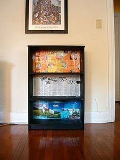 cool way to use up the old calendar pages with pictures