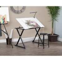 Studio Designs Axiom Drawing Table Black for sale online Vintage Drafting Table, Drafting Tables, Art Supplies Storage, Clamp Lamp, Drawing Desk, Art Supply Stores, Engineered Wood, A Table, Modern Design