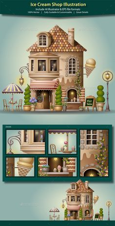 Ice Cream Shop Illustration