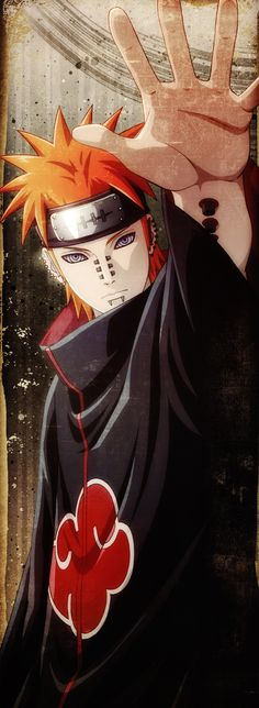 HD wallpaper: Pain from Naruto illustration, Naruto Shippuuden, Pein, Akatsuki