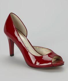 Look at this #zulilyfind! Red Patent Octavie Leather Pump by Anne Klein #zulilyfinds