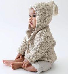 Modèle gilet à capuche en coton bébé