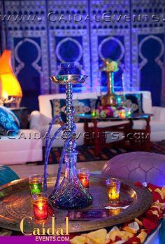 White & Blue Moroccan Themed Party Decor at Gulfstream, Florida | Flickr: Intercambio de fotos