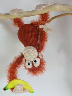 Oscar the Orangutan Amigurumi Crochet Pattern by IlDikko on Etsy