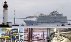 You're not gonna need a bigger boat! World's largest cruise ship leaves port for the first time as it sets sail from France - and even though there are no passengers it still needs 500 crew Cruise First Time, How To Book A Cruise, Family Cruise, Cruise Travel, Cruise Vacation, Vacation Trips, Cruise Insurance, Discount Cruises, Royal Caribbean Ships
