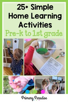 Keeping kids busy at home can be challenging, especially if you want to ensure that they're continuing to learn as well. Here are some simple activities that you can do at home with your little ones. Back To School Activities, Classroom Activities, Learning Activities, Teaching Ideas, School Ideas, Addition Activities, Subtraction Activities, Measurement Activities, Second Grade Centers