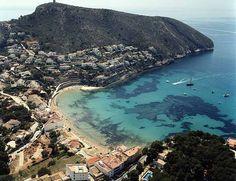 The beach of El Portet (Moraira)