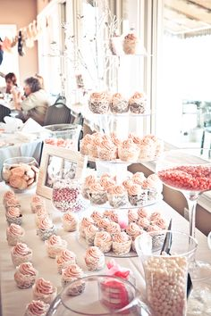 Candy Bar with Cupcake Tower
