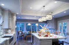 Gray gray blue white kitchen cabinets gray tile backsplash kitchen-backsplash, blue, blue gray backsplash, blue kitchens with white cabinets, blue white kitchen, cabin, gray tile, houses, interior, Room ideas, Room ideasforhouses, Room ideasforhouses.com, kitchen, kitchen blue, kitchen cabinet, kitchen cabinets, tile backsplash, tile backsplash kitchen, white kitchen, white kitchen cabinets