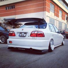 #Honda #Civic_Ferio #Sedan #Slammed #Stance #Modified #JDM