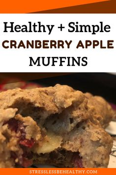 You'll love these cranberry apple muffins! They're perfect for breakfast or snacks in the fall and would make for an easy and healthy Thanksgiving treat! Cranberry Apple Muffins Recipe, Cranberry Bread, Healthy Muffins, Healthy Breakfast Recipes, Healthy Snacks For Kids, Kid Snacks, Vegan Apple Crisp, Pumpkin Spice Muffins, Fall Recipes