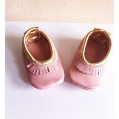 Ballerina flats,baby pink and gold baby moccs, moccasins, newborn, softsole shoes, blush, flats