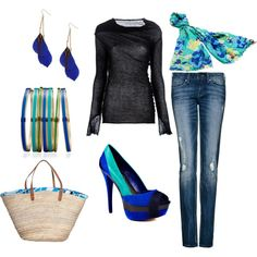 Turquoise, Royal and Yellow Outfit