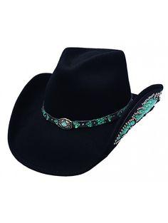 Nevada Natural Beauty Wool Felt Bullhide Hat by Montecarlo Hat Company 0578BL