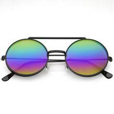 120e31dd551 Men s Women s Round Shape Flip up Django Sunglasses Clear Red Lenses Black  Frame  Unbranded  Round