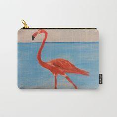 love flamingo Carry-All Pouch by afrorubini Organize Your Life, Wraparound, Pouches, Art Supplies, Flamingo, Carry On, Zip Around Wallet, Ipad, Exterior