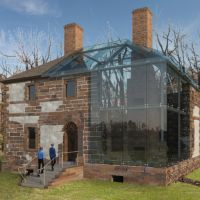 For the past 20 years, preservationists have been painstakingly working to save Menokin — the Northern Neck Renaissance-style manor that was once home to Revolutionary War patriot Francis Lightfoot Lee. Virginia Homes, Glass Facades, Glass House, Warsaw, Places To Travel, Gazebo, Architecture Design, The Neighbourhood, Home And Garden