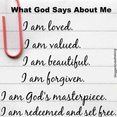 What God Says About Me