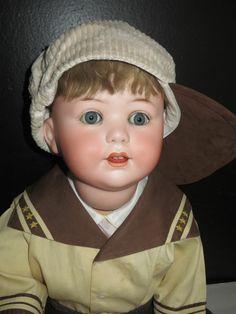 "ANTIQUE CUNO & OTTO DRESSEL 27"" GERMAN BISQUE 1914 JUTTA CHARACTER BABY BOY DOLL"