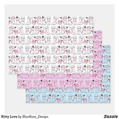 Kitty Love Wrapping Paper Sheets