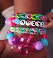 Luv Me More Creations Custom birthday bracelet set