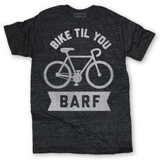 Bike Til Barf Tee Unisex Black, $12, now featured on Fab.