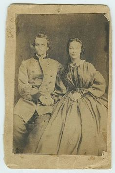 Unidentified Confederate Lieutenant and young lady.  Found in a box of old photos in a New Orleans Antique Shop.  Appears to be either red or black cuffs and collar, red being artillery, black medical staff. What a shame this handsome couples identity is lost in the mists of the past...