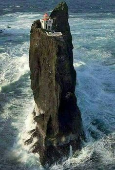 Þrídrangar lighthouse in Iceland (in the Vestmannaeyjar Islands) Places To Travel, Places To See, Places Around The World, Around The Worlds, Beautiful World, Beautiful Places, Amazing Nature, Belle Photo, Wonders Of The World