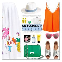 """Summer Brights"" by mada-malureanu ❤ liked on Polyvore featuring Circus Hotel, Rebecca Minkoff, Elizabeth and James, Aspinal of London, Chanel, Marc Jacobs, Anne Sisteron, Sachin + Babi, Melissa Odabash and Shay & Blue"
