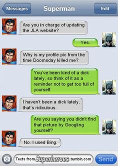 Hilarious Text Messages From Superheroes