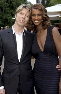 David Bowie and Iman at Serpentine Gallery Summer party, 2002