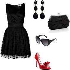 love the heels...LOVE THE LITTLE BLACK DRESS...AGAIN I COULD SEE JILL OR KELLY PULLING THIS OFF