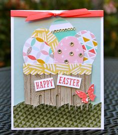Krystal's Cards: Stampin' Up! Berry Easter Basket Card #krystals_cards #easterbasket #happyeaster #stampinup #stampsomething #berrybasket #eastereggs