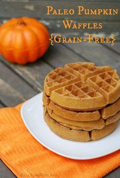 Paleo Pumpkin Waffles {Grain-Free} - Real Food Outlaws
