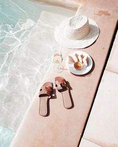 poolside essentials in shades of blush pink