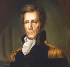 """Presidents in uniform: Andrew Jackson, famously known as """"Old Hickory"""" after leading the US forces to victory in the Battle of New Orleans during the War of He also served in a local militia during the American Revolution at the age of List Of Us Presidents, American Presidents, American History, Native American, Black Presidents, Andrew Jackson Quotes, Andy Jackson, President Quotes, Battle Of New Orleans"""