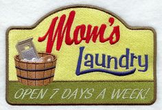 Mom's Laundry design (F9589) from www.Emblibrary.com