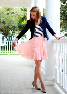 pink chiffon skirt